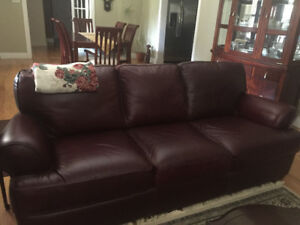 Natuzzi Leather sofa set