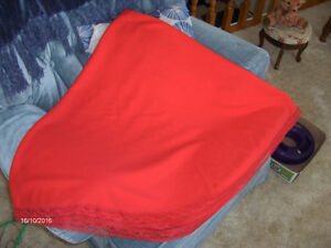 Red Round polyester tablecloth 63 inches