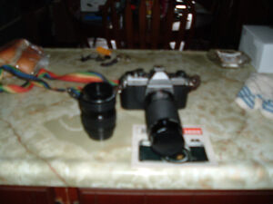 35mm camera and lenses