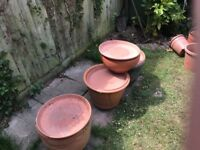 Terecota and marvel plant pots with lids