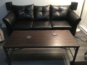 Sofa 3 place plus table de salon