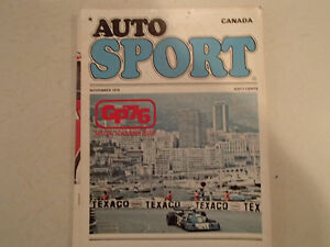 AUTOSPORT CANADA November 1976  Volume 2 Issue 9 - GP76 Special