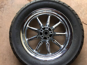 Chrome wheels with tires for sale
