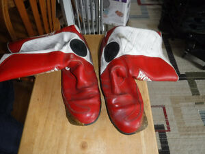 Older Prexport Leather motorcycle boots size 11