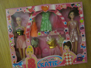Pretty Katie Doll Set With Accessories.   New.