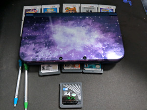 NEW Nintendo 3ds XL (Galaxy Limited Édition) Full Of Games + R4