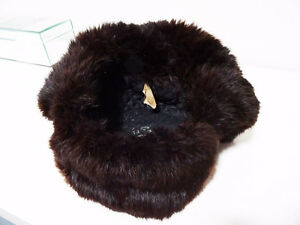 RUSSIAN FUR HAT shapka ushanka treukh EAR FLAPS trooper SABLE Kitchener / Waterloo Kitchener Area image 8