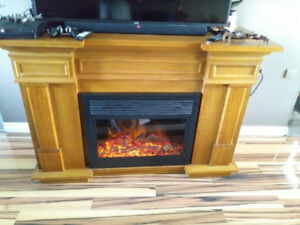 Beautiful Solid Fireplace with Wine Rack and wine Fridge Builtin