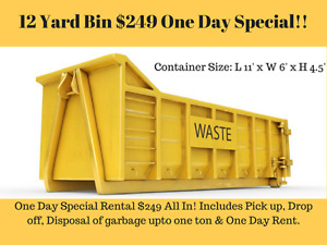 Dumpster Bins Rental only for $249 All In! Discounted price!!! Calgary Alberta image 1