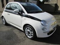 Fiat 500 1.2I LOUNGE (white) 2008