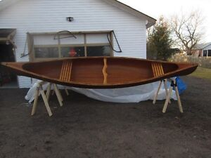 16' RIBLESS CEDAR STRIP CANOE BY TED MOORE PETERBOROUGH Peterborough Peterborough Area image 2