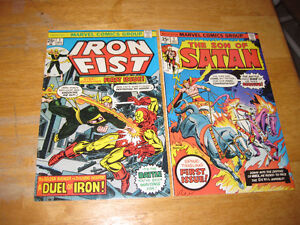 Iron Fist #1 and Son of Satan #1 comics