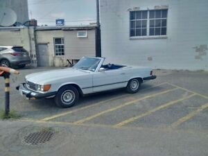 1974 Mercedes-Benz SL-Class White on Blue Convertible LOW MILES