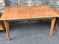 Vintage retro wooden mid century shabby chic kitchen dining table work office computer desk