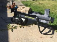 Log splitter for rent $35 per day $60 per weekend