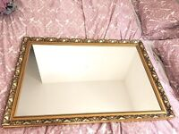BEAUTIFUL GILTED LARGE MIRROR FREE DELIVERY GOOD CONDITION