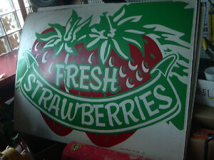 Strawberry forsale signs