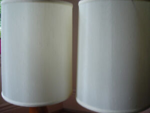 MID CENTURY CYRESS WOOD TABLE LAMPS HANDCRAFTED - TWO - London Ontario image 4