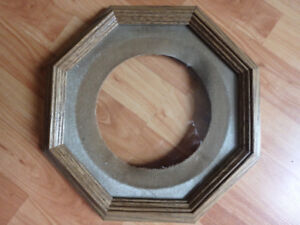 Collector plate wooden display frame.