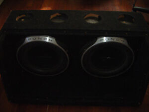 12 Subs and cabinet for sale