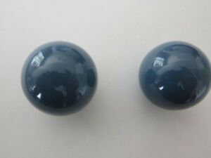Kitchen cupboard Knobs in Blue Porcelain