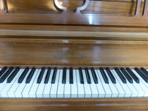 Upright Piano and Bench (Chickering)