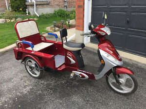 Ebike 3 wheel electric trike with trailer hitch carrier