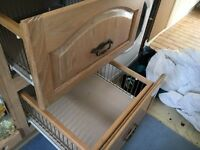 Bespoke solid oak kitchen cabinets and draws