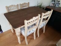 dining table and 4 chairs NEED GONE REDUCED