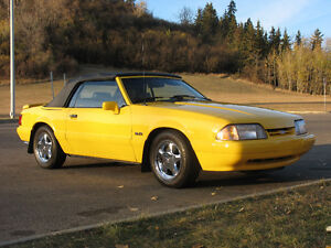 1993 Mustang LX Anniversary Yellow Convertible black leather