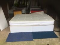 A Double Divan Bed With a Quality mattress