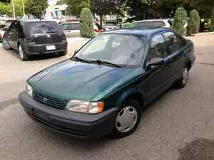 1998 Toyota Tercel. Comes with new winter tires on rims