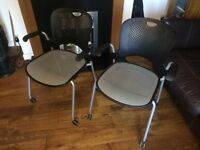 2x Herman Miller stacking office chairs
