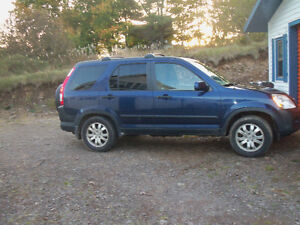 2005 Honda CR-V blue SUV, Crossover