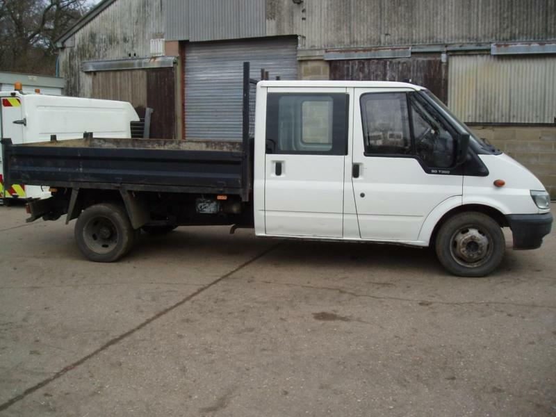 ford transit double cab tipper truck 2004 3500 kg gvw 90t350 lwb mot sept 2017 in clacton on. Black Bedroom Furniture Sets. Home Design Ideas
