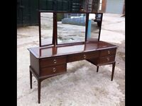 Stag Minstrel 5 Drawer Dressing Table and Triple Mirror