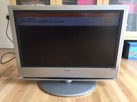 """Sony LCD flat screen digital TV - 26"""" fully working with remote"""