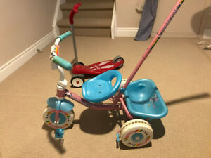 Tricycle and Radio Flyer Scooter