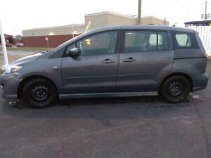 Mazda 5 GT 2008 gris 6 places avec intérieur en cuir