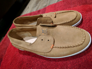 Suede loafer shoes