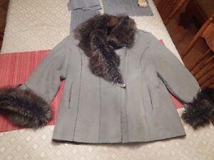 Manteau d'hiver cuir(suède)