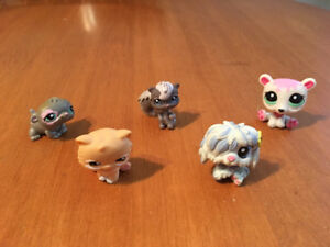 Littlest pet shop lot B dog cat mouse chipmunk bear
