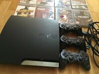 Ps3, 3controllers + 15 games