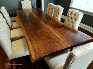 Live Edge Table Walnut Slab Table Dining Table Custom Wood Table