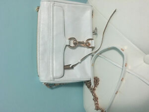 New Rebecca Minkoff Mini Mac in white with rose gold hardware