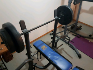 Weight Bench Home Gym System