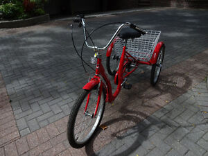 Tricycle - BRIGHT RED - NEW -