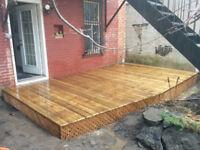 Fabrication et rénovation de patio/terrasse en bois.