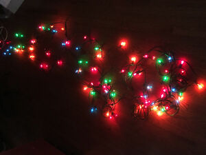 Indoor Xmas Lights - Colour & White Lights - 3 Strands for $5
