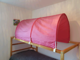 Pink bed canopy for Ikea bunk bed